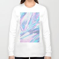 hologram Long Sleeve T-shirts featuring Iridescence by Leah Moloney Photo