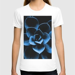 Dark Blue Succulent Plant #decor #society6 #buyart T-shirt