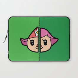 Old & New Animal Crossing Villager Female Laptop Sleeve