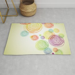 Abstract Pencil Scribble Pattern Rug