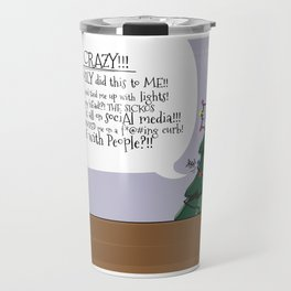 Angry Christmas Tree - funny holiday card Travel Mug