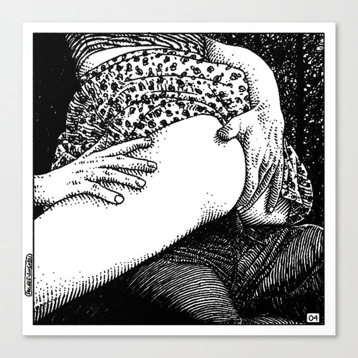 asc 665 - Les rendez-vous du crépuscule (Visitors in the twilight) #04 Canvas Print