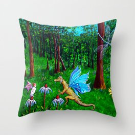 Discussion in the Woods Throw Pillow