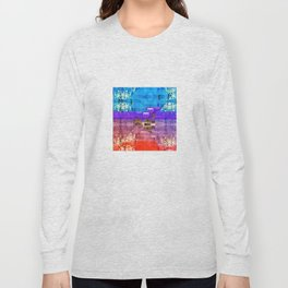 Colorful Southwestern Inspired Pattern Design Long Sleeve T-shirt