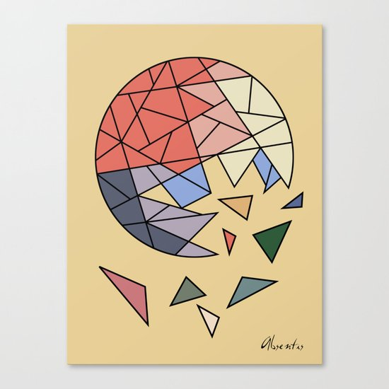 CONSTANT EVOLUTION (abstract geometric) Canvas Print