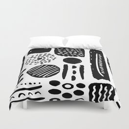 Abstract Hand Drawn Patterns No.3 Duvet Cover