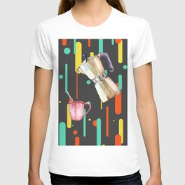 Coffee Pop Art Collage Good Morning T-shirt