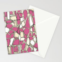 BROKEN POP pink Stationery Cards