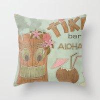 aloha Throw Pillows featuring Aloha by Robin Curtiss