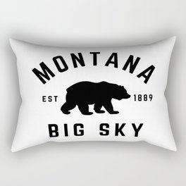 Montana Grizzly Bear Big Sky Country Established 1889 Vintage Rectangular Pillow