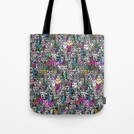 Gemstone Cats CYMK Tote Bag