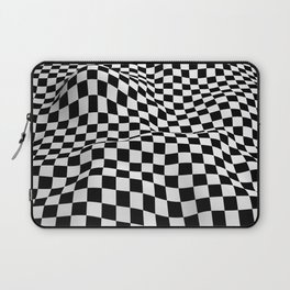 Wiggly Checker Board Laptop Sleeve
