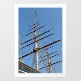 Cutty Sark Sails Art Print