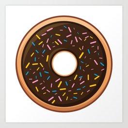Delicious Chocolate Sprinkles Doughnut / Donut Art Print