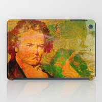 beethoven iPad Cases featuring ludwig van beethoven by Ganech joe