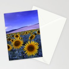 Sunflowers At Blue Hour Stationery Cards
