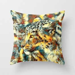 AnimalArt_Leopard_20170606_by_JAMColorsSpecial Throw Pillow