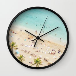 Waikiki beach in Hawaiian summer. Wall Clock