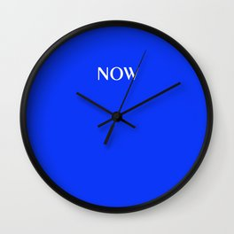 NOW GLOWING BLUE solid color Wall Clock