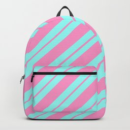 Blue and Pink Peppermint Backpack