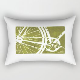 Olive Bike Rectangular Pillow