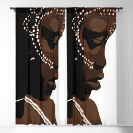 Mursi girl Blackout Curtain