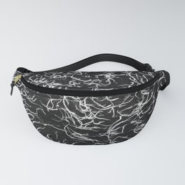 black and white shag Fanny Pack