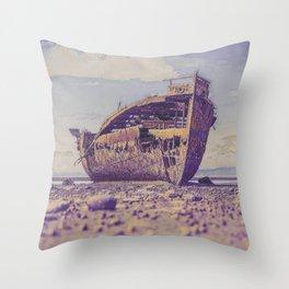 Shipwreck I Throw Pillow