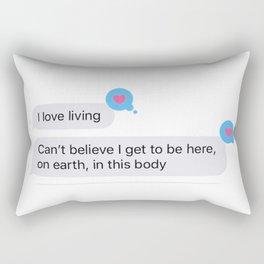 I Love Living! Rectangular Pillow