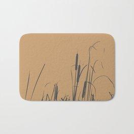 Bush of Swamp Reed on a Lake Bath Mat