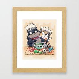 Little Chefs Framed Art Print