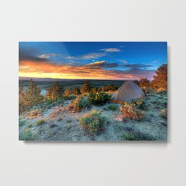 The Benefits of Camping Landscape Metal Print