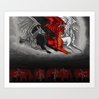 Dragons of the apocalypse Art Print