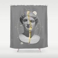 mythology Shower Curtains featuring Mythology by Enrique Larios