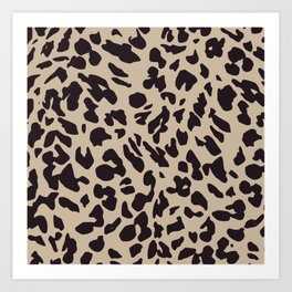 Brown Cheetah Print Art Print