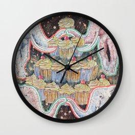 Elephants Love Cupcakes Wall Clock