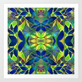 Floral Fractal Art G373 Art Print