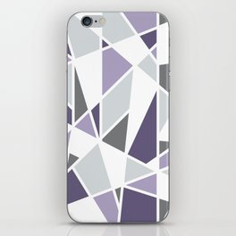 Geometric Pattern in purple and gray iPhone Skin