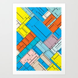 The Burning Rainbow Bridge 143 Art Print