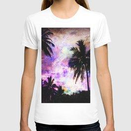 Nebula Palm Trees T-shirt
