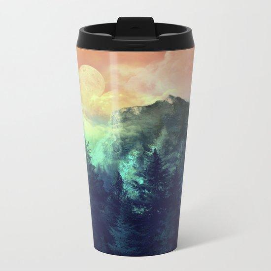 sunset forest 1 Metal Travel Mug