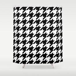 Houndstooth Pattern Geometric Monochrome Shower Curtain