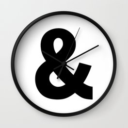 Ampersand (Black & White) Wall Clock