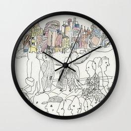 NYC buildings Wall Clock