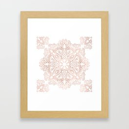 Mandala Rose Gold Pink Shimmer by Nature Magick Framed Art Print