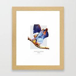 Tropicolygonal Bird Framed Art Print