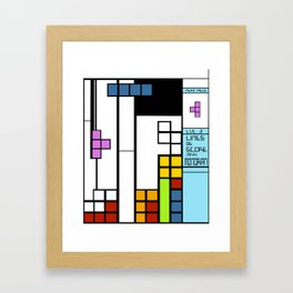 Mondrian Taught Me Everything I Know About Arcade Gaming Framed Art Print