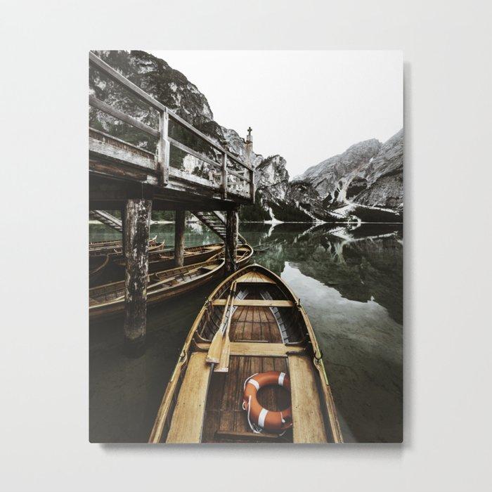braies lake Metal Print