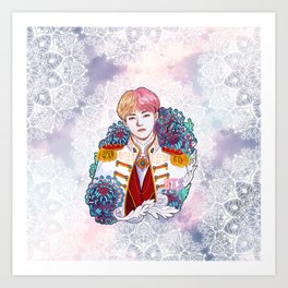 BTS V, King Taehyung, Kings of KPOP, Love Yourself, Boy With Luv Art Print