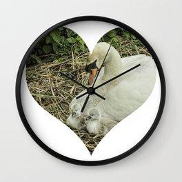Mother Swan VI Wall Clock